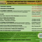 FECHAS IMPORTANTES - ACTUALIZADO RES 062
