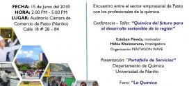 """Evento: """"QUÍMICA Y EMPRESA"""" Apoyando el desarrollo Regional"""