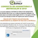 CONSULTA DE ASIGNATURAS B2018