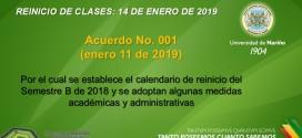 REINICIO CLASES B 2018