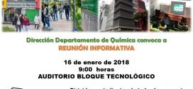 REUNIÓN REINICIO CLASES B 2018